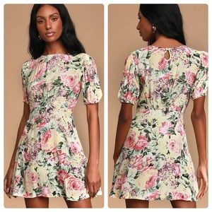 Faithfull the Brand Sidonie Floral Mini Dress Sz L